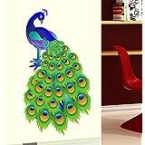 Decals Design 'Slender Peacock' Wall Sticker (PVC Vinyl, 60 cm x 90 cm)