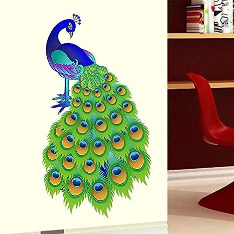 46c96685f2c Buy Decals Design  Slender Peacock  Wall Sticker (PVC Vinyl