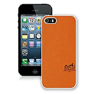 Fashionable And Durable Custom Designed Cover Case For iPhone 5S With Hermes 4 White Phone Case