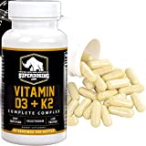 vitamin d 8000 - Max Strength D3 + K2: 10,000 iu D and 1500 mcg K-2 by SuperDosing 90 Caps. High Potency for Heart and Bone Health. Boost Your Energy and Immune System with Our Best Vitamin D and Vit K Supplement