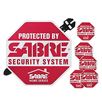 SABRE Home Security Alarm Yard Sign And Window Decal Stickers - Window decals for home security