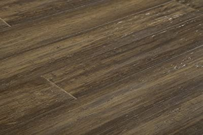 "Yanchi Bamboo Flooring - Handscraped Strand Woven Collection  72"" x 5 3/5"" x 9/16"" - Antique Brass"