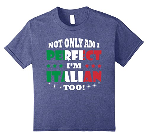 y am I Perfect, I'm Italian Too T shirt For Italian 12 Heather Blue ()