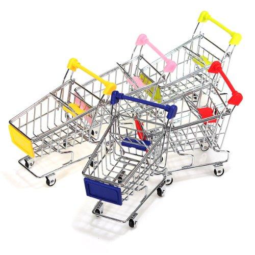 Dealglad® Mini Supermercado Carrito de la compra computadora de la oficina Decoración Teléfono Pen Toy Titular Organizador...