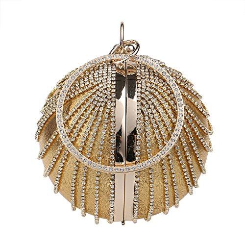 El nuevo balón redondo silvestres señoras bolso bolsa de noche Gold
