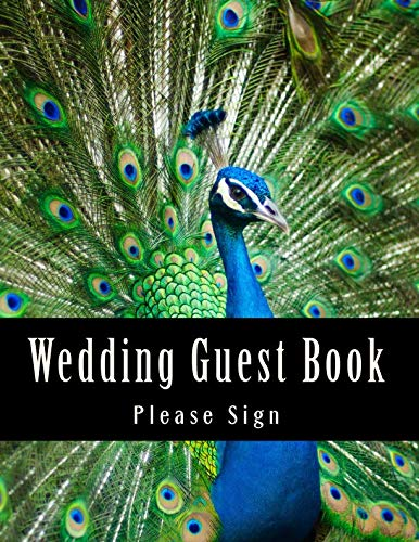 Wedding Guest Book: 50 Pages, Large Print Guest Book for Weddings (Volume -