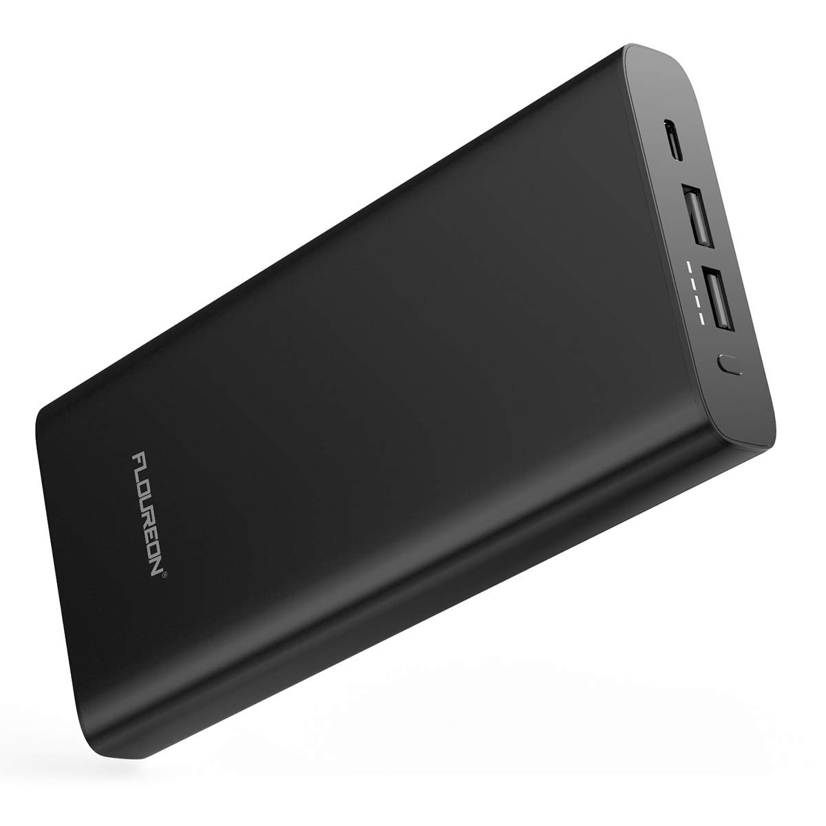 FLOUREON Power Bank 26800mAh 60W PD Portable Charger Input & Output Type C, Quick Charge 3.0 Compatible for USB-C MacBook Air/iPad Pro 2018, Nintendo Switch, iPhone Xs/X / 8