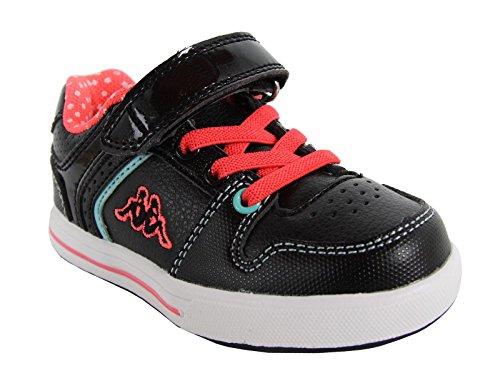Scarpe sport per Bambina KAPPA 302EZL0 REGGIA 953 BLACK-NEON PINK