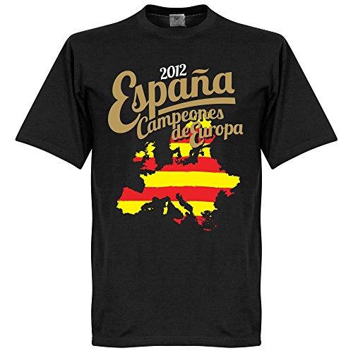 2012 Spanien Campeones Squad T-Shirt - schwarz