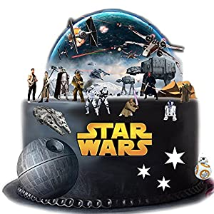 Stand Up Star Wars Cake Scene Premium Edible Wafer Paper