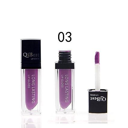 Barra de labios de moda Labio de larga duración Impermeable Mate líquido brillo Qibest Barra de labios WOZOW