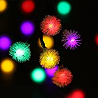 LUCKLED Solar String Lights, 23ft 50 LED Fairy Chuzzle Ball Outdoor Lights Decorative Lighting for Garden, Home, Patio, Lawn, Party and Holiday Decorations