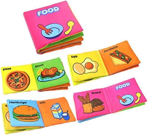 TOYANDONA pädagogisches Tuchbuch das praktisches Buch für Babykinder lernt 8pcs