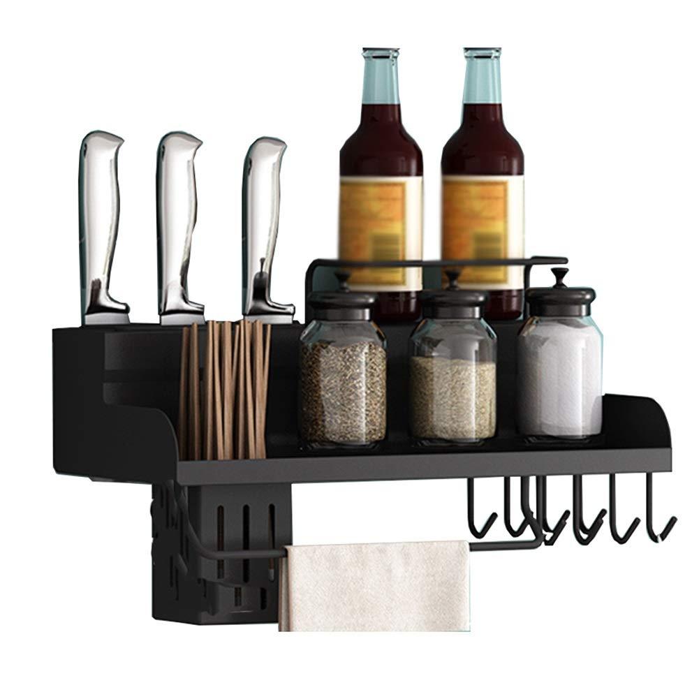 Storage Rack Wall-Mounted Rack Knife Holder Kitchen Supplies Shelf Stainless Steel Kitchen Rack (Size : 50cm) by DAN-Shelf