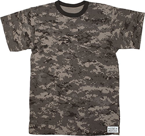 Urban Camouflage T-shirt - Army Universe Subdued Urban Digital Camouflage Short Sleeve T-Shirt with Pin - Size Medium (37