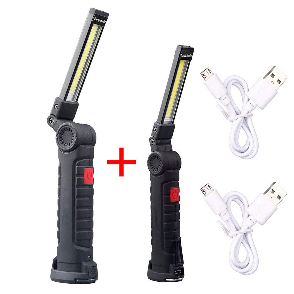 waterproof detection garage emergency light 15.5*5*4.5cm LED work light COB portable rechargeable work light with Magnetic Base 360/°Rotate 5 Lighting Mode Pocket LED work light for waterproof home use