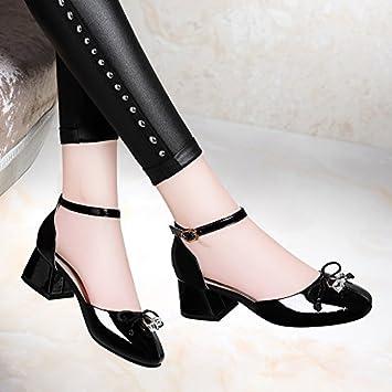 HUAIHAIZ Damen High Heels Pumps Sandalen Niedrigem und Mittlerem Alter Schuhe Abend Schuhe