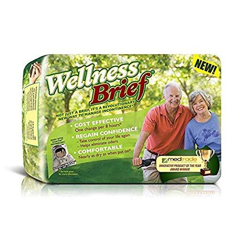 (Wellness Briefs Original Tab-Style Briefs, w/NASA Technology, Large, Case/60 (3/20s))