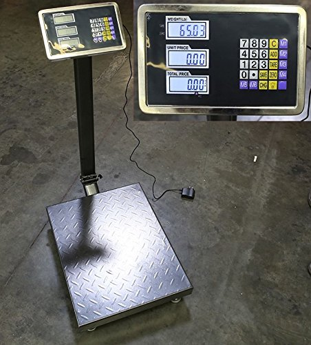 SKEMIDEX---New 600LB Weight Computer Scale Digital Floor Platform Shipping Warehouse Postal And postal scale walmart digital table top weighing scale table top weighing scale price shipping scale by SKEMIDEX (Image #2)