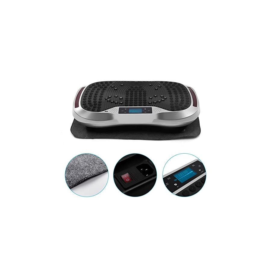 GENKI YD 1015S Vibration Platform Plate Whole Body Massager Machine Slim Exercise Fitness with Bluetooth MP3