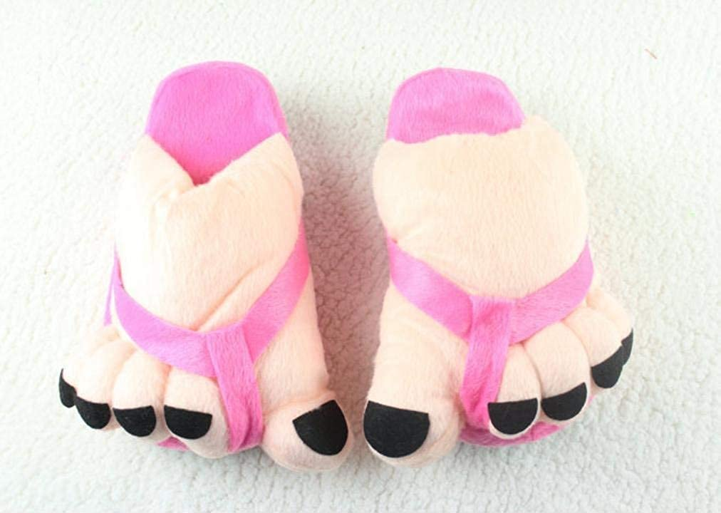 pink red JaHGDU Ladies Casual Cute Toes Style Appearant Slippers Super Soft Plush Paws Comfortable Special Design Home Leisure Cotton Slippers