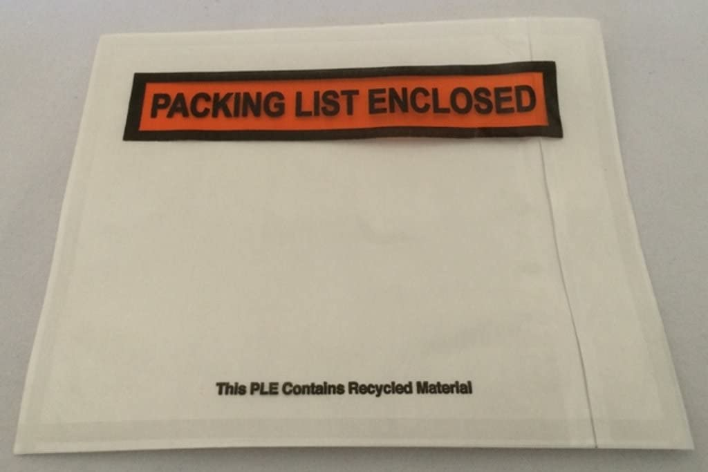 100-ct. Shipping Label Envelopes Pouches 4.5 x 5.5 Packing List Enclosed Printed Adhesive Back Load Packing List