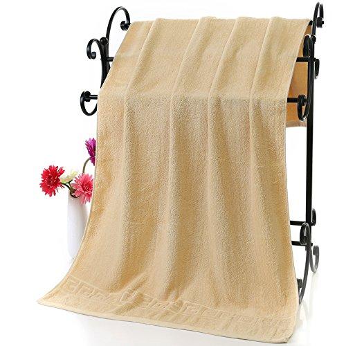 Reine Baumwolle Frottee Handtücher und die erwachsene Frau Paar weissen dicken Beauty Salon hotel Kinder Baumwolle weiches Wasser Absorption intensivieren, Hellbraun