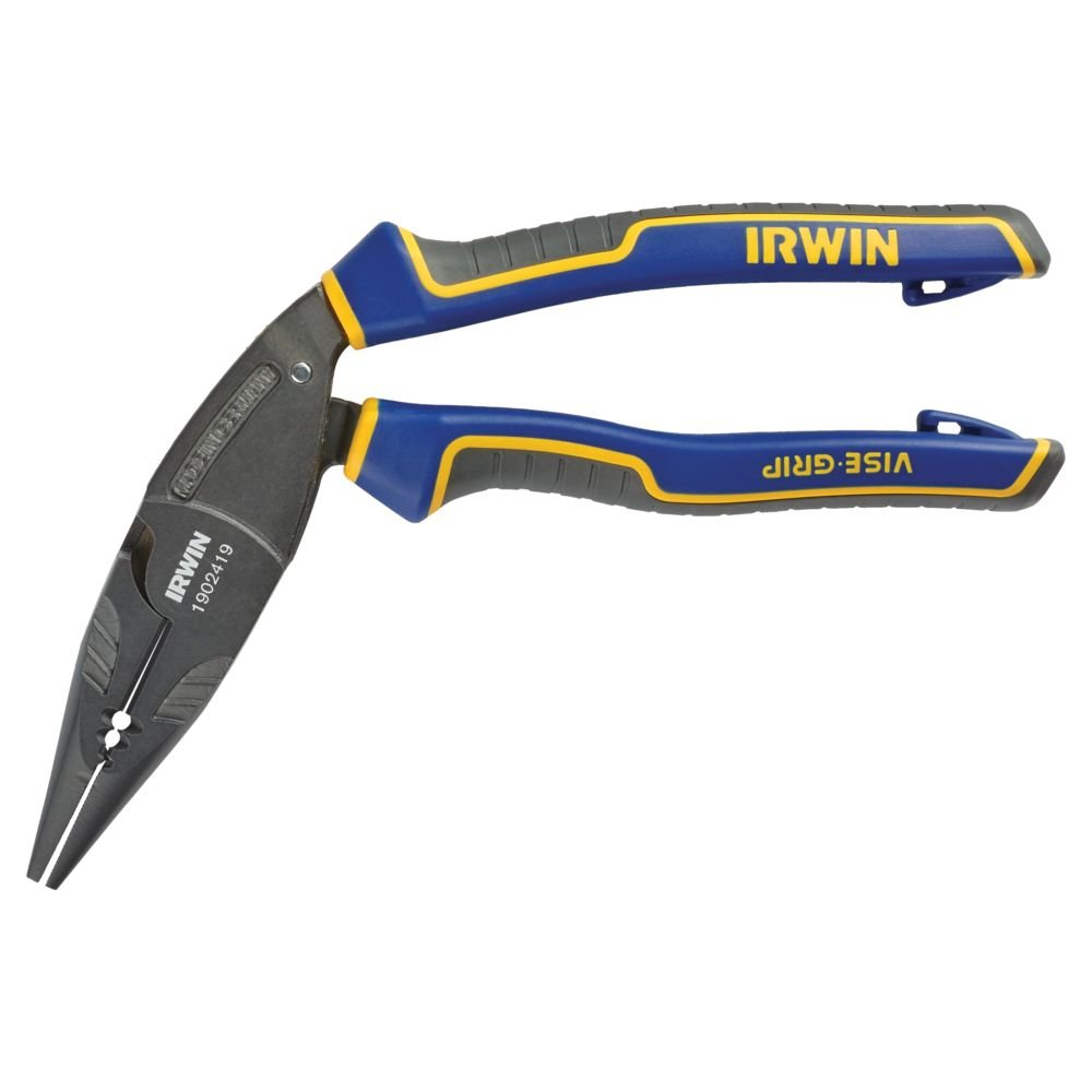 IRWIN Tools VISE-GRIP Pliers, Long Nose Ergonomic Multi Plier, 8-inch (1902419) by Irwin Tools