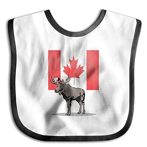 Price comparison product image Moose And Canadian Flag Infant Baby's Towel Bib Skin-friendly Saliva Towel Baby Bibs
