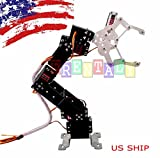 robot arm claw - Frentaly Programmable Aluminium Robot Arm Mechanical Robot Clamp Claw 20kg Servo Gripper DIY Arduino Mounted Assembly