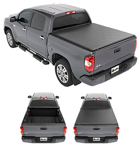 Bestop 19182-01 EZ-Roll Tonneau Cover for 2007-2018 Toyota Tundra (w/ and w/o deck rails), 5.5' bed ()