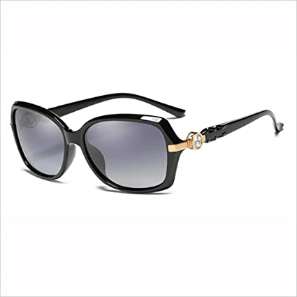 QZ HOME Moda Elegante Rhinestone Anti-UV Drive Gafas de Sol polarizadas Light Street Beat