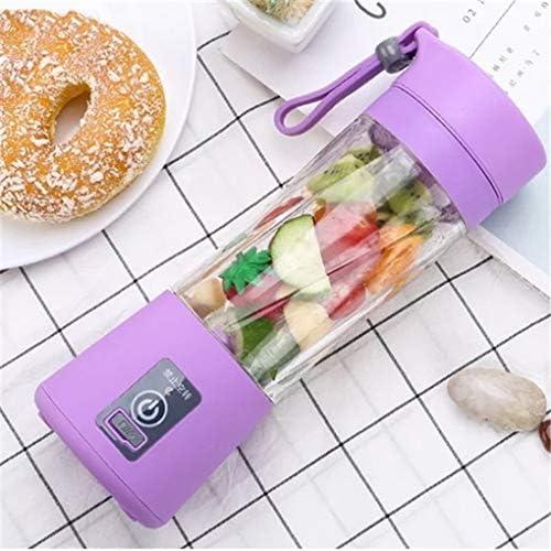 Qinghengyong Exprimidor eléctrico Multifuncional Mini USB Recargable Taza de portátil Recargable Inicio Jugo Making Regalo de la Taza de 380 ml