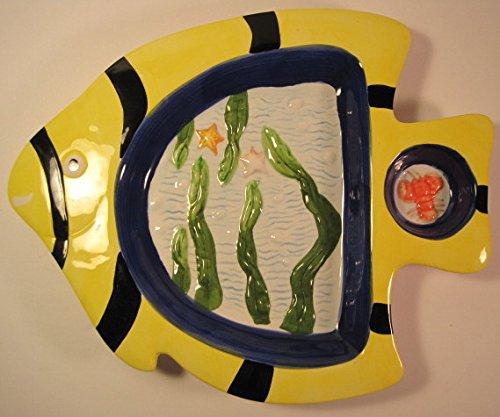 - Home Essentials Tropical Angel Fish Design, Decorative Platter, 13 Inches