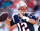 Tom Brady New England Patriots Autographed Signed 8 x 10 Photo - COA - NRMT/MINT Condition
