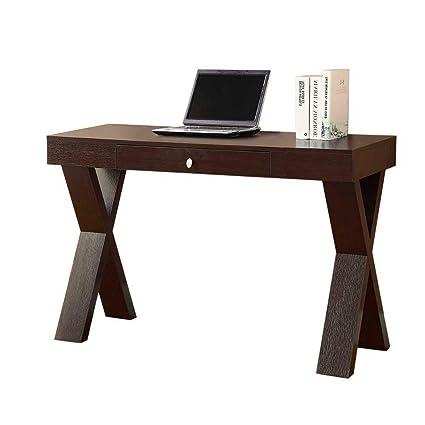 Prime Amazon Com Minimal Computer Desk Espresso Writing Table Download Free Architecture Designs Salvmadebymaigaardcom