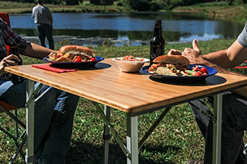 High Quality Amazon.com: Camco 51893 Bamboo Folding Table With Aluminum Legs: Automotive