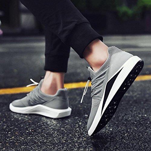 Uomo autunno traspirante Maglia Maschio Tempo libero scarpe sportive leggero sneaker Adatto per correre escursioni a piedi , Gray , 41