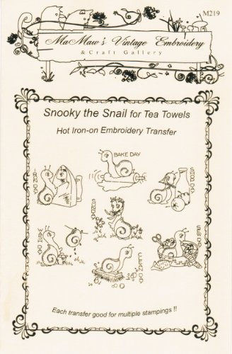 Snooky the Snail Hot Iron Embroidery Transfers ()