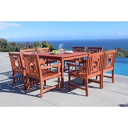 Vifah V1401SET14 Malibu Outdoor Furniture - Amazon.com: Vifah V1401SET14 Malibu Outdoor Furniture: Garden & Outdoor
