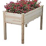 Cyanhope Wooden Raised Garden Bed Kit Cedar Elevated Garden Planter Box with Legs for Vegetables/Flower/Herb/Fruits
