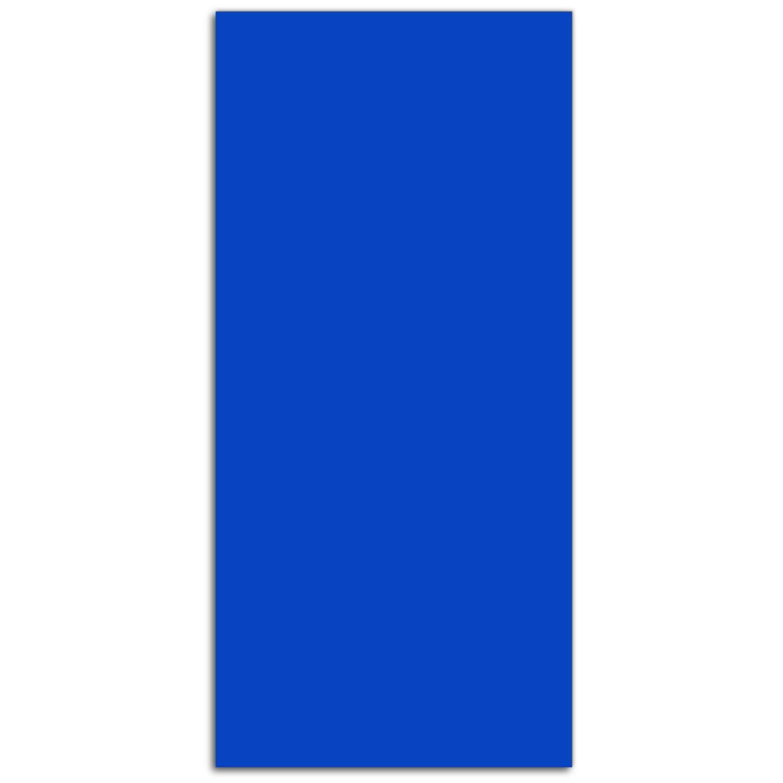 DEKOGLAS DEKOGLAS DEKOGLAS Glas Magnettafel 'einfarbig Blau FMK-27-086' Magnetwand Memoboard 34x72 cm, Wandtafel für Küche & Wohnzimmer, Pinnwand magnetisch 36762c