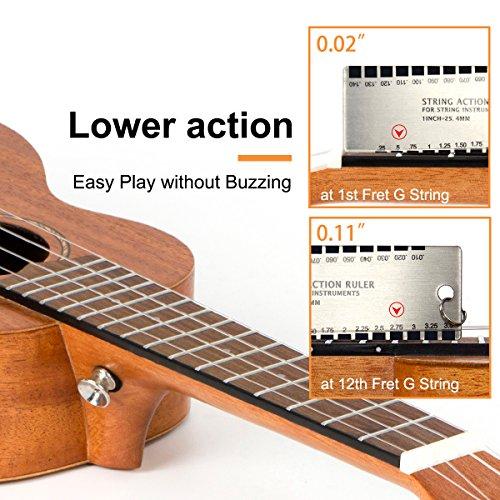 Ukulele Soprano Mahogany 21 Inch Ukelele Uke With Beginner Kit ( Gig Bag Tuner Strap String Instruction Booklet ) - Image 4