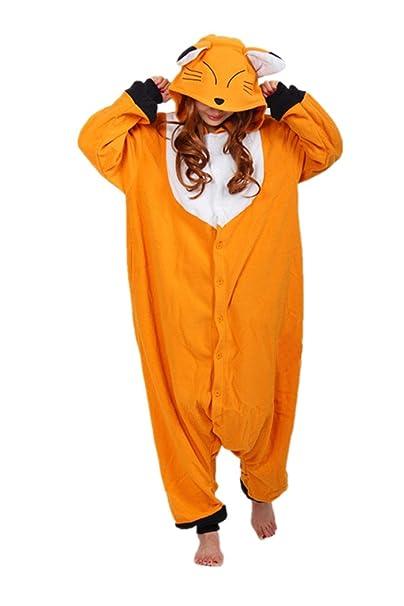 Wotogold Animale Costumi Di Adulti Volpe Pigiama Unisex Per Cosplay qrItHrvw