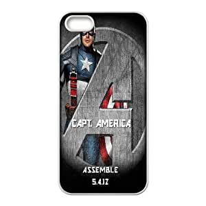 Captain America For iPhone 5, 5S Csae protection phone Case ER9009597