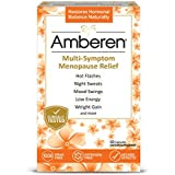 Amberen – Multi-Symptom Menopause Relief for Hot Flashes, Night Sweats, Sleeplessness, Mood Swings, Joint & Muscle Pain & More. No side Effects. 1 Month Supply