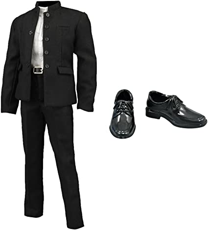 """1:6 Black Dress Shoes Accessories for 12/"""" Males Action Figure BBI Dragon DID"""