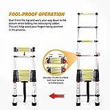 Yesker 12.5ft Telescoping Ladder Aluminum