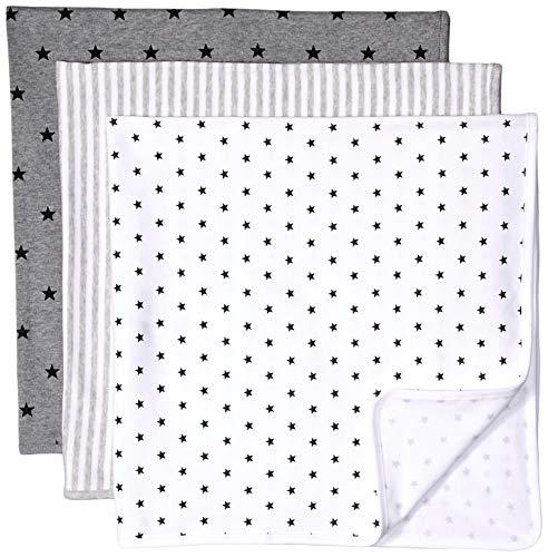 - Amazon Essentials Baby 3-Pack Swaddle Blanket, Neutral Uni Star Stripe, One Size