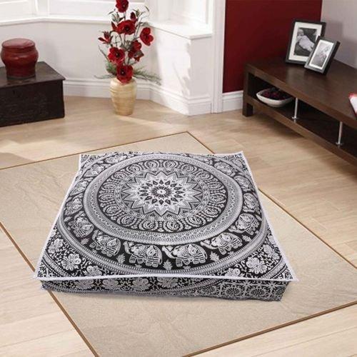 Color negro y blanco puf infantil con diseño de Mandala ...
